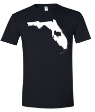 Load image into Gallery viewer, Short Sleeve T-Shirt Florida Black Turkey Vibrant Design High Quality Tight Knit Ring Spun Low Maintenance Cotton Printed With The Newest Available Color Transfer Technology