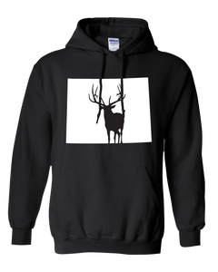 Pullover Hooded Sweatshirt Wyoming Black Elk Vibrant Design High Quality Tight Knit Ring Spun Low Maintenance Cotton Printed With The Newest Available Color Transfer Technology
