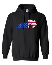 Load image into Gallery viewer, Pullover Hooded Sweatshirt Kentucky Black Elk Vibrant Design High Quality Tight Knit Ring Spun Low Maintenance Cotton Printed With The Newest Available Color Transfer Technology