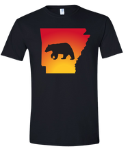 Load image into Gallery viewer, Short Sleeve T-Shirt Arkansas Black Black Bear Vibrant Design High Quality Tight Knit Ring Spun Low Maintenance Cotton Printed With The Newest Available Color Transfer Technology