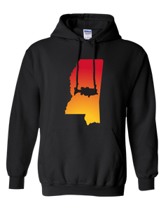 Pullover Hooded Sweatshirt Mississippi Black Large Mouth Bass Vibrant Design High Quality Tight Knit Ring Spun Low Maintenance Cotton Printed With The Newest Available Color Transfer Technology