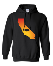 Load image into Gallery viewer, Pullover Hooded Sweatshirt California Black Large Mouth Bass Vibrant Design High Quality Tight Knit Ring Spun Low Maintenance Cotton Printed With The Newest Available Color Transfer Technology
