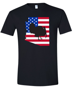 Short Sleeve T-Shirt Arizona Black Turkey Vibrant Design High Quality Tight Knit Ring Spun Low Maintenance Cotton Printed With The Newest Available Color Transfer Technology