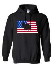 Load image into Gallery viewer, Pullover Hooded Sweatshirt North Dakota Black Turkey Vibrant Design High Quality Tight Knit Ring Spun Low Maintenance Cotton Printed With The Newest Available Color Transfer Technology