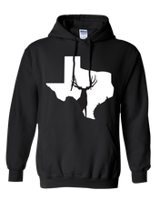 Load image into Gallery viewer, Pullover Hooded Sweatshirt Texas Black Mule Deer Vibrant Design High Quality Tight Knit Ring Spun Low Maintenance Cotton Printed With The Newest Available Color Transfer Technology