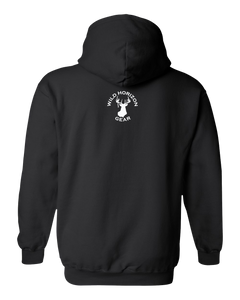 Pullover Hooded Sweatshirt Wisconsin Black Moose Vibrant Design High Quality Tight Knit Ring Spun Low Maintenance Cotton Printed With The Newest Available Color Transfer Technology