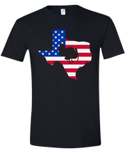 Load image into Gallery viewer, Short Sleeve T-Shirt Texas Black Turkey Vibrant Design High Quality Tight Knit Ring Spun Low Maintenance Cotton Printed With The Newest Available Color Transfer Technology