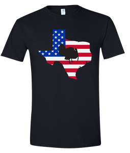 Short Sleeve T-Shirt Texas Black Turkey Vibrant Design High Quality Tight Knit Ring Spun Low Maintenance Cotton Printed With The Newest Available Color Transfer Technology