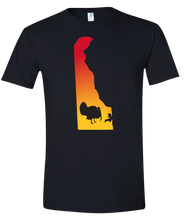 Load image into Gallery viewer, Short Sleeve T-Shirt Delaware Black Turkey Vibrant Design High Quality Tight Knit Ring Spun Low Maintenance Cotton Printed With The Newest Available Color Transfer Technology