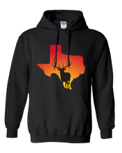 Load image into Gallery viewer, Pullover Hooded Sweatshirt Texas Black Elk Vibrant Design High Quality Tight Knit Ring Spun Low Maintenance Cotton Printed With The Newest Available Color Transfer Technology