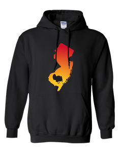 Pullover Hooded Sweatshirt New Jersey Black Turkey Vibrant Design High Quality Tight Knit Ring Spun Low Maintenance Cotton Printed With The Newest Available Color Transfer Technology
