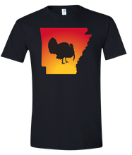 Load image into Gallery viewer, Short Sleeve T-Shirt Arkansas Black Turkey Vibrant Design High Quality Tight Knit Ring Spun Low Maintenance Cotton Printed With The Newest Available Color Transfer Technology