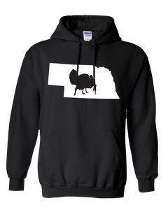 Pullover Hooded Sweatshirt Nebraska Black Turkey Vibrant Design High Quality Tight Knit Ring Spun Low Maintenance Cotton Printed With The Newest Available Color Transfer Technology