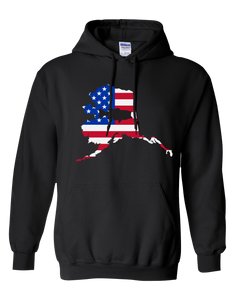 Pullover Hooded Sweatshirt Alaska Black Large Mouth Bass Vibrant Design High Quality Tight Knit Ring Spun Low Maintenance Cotton Printed With The Newest Available Color Transfer Technology