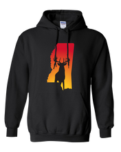 Load image into Gallery viewer, Pullover Hooded Sweatshirt Mississippi Black Whitetail Deer Vibrant Design High Quality Tight Knit Ring Spun Low Maintenance Cotton Printed With The Newest Available Color Transfer Technology
