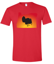 Load image into Gallery viewer, Short Sleeve T-Shirt Oregon Red Turkey Vibrant Design High Quality Tight Knit Ring Spun Low Maintenance Cotton Printed With The Newest Available Color Transfer Technology