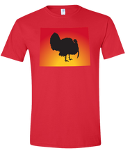 Load image into Gallery viewer, Short Sleeve T-Shirt Wyoming Red Turkey Vibrant Design High Quality Tight Knit Ring Spun Low Maintenance Cotton Printed With The Newest Available Color Transfer Technology
