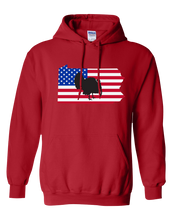 Load image into Gallery viewer, Pullover Hooded Sweatshirt Pennsylvania Red Turkey Vibrant Design High Quality Tight Knit Ring Spun Low Maintenance Cotton Printed With The Newest Available Color Transfer Technology