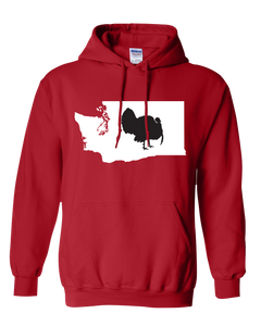 Pullover Hooded Sweatshirt Washington Red Turkey Vibrant Design High Quality Tight Knit Ring Spun Low Maintenance Cotton Printed With The Newest Available Color Transfer Technology