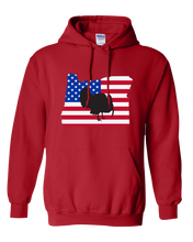 Load image into Gallery viewer, Pullover Hooded Sweatshirt Oregon Red Turkey Vibrant Design High Quality Tight Knit Ring Spun Low Maintenance Cotton Printed With The Newest Available Color Transfer Technology