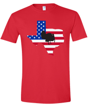 Load image into Gallery viewer, Short Sleeve T-Shirt Texas Red Turkey Vibrant Design High Quality Tight Knit Ring Spun Low Maintenance Cotton Printed With The Newest Available Color Transfer Technology
