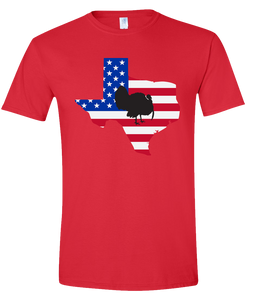 Short Sleeve T-Shirt Texas Red Turkey Vibrant Design High Quality Tight Knit Ring Spun Low Maintenance Cotton Printed With The Newest Available Color Transfer Technology