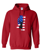 Load image into Gallery viewer, Pullover Hooded Sweatshirt Mississippi Red Whitetail Deer Vibrant Design High Quality Tight Knit Ring Spun Low Maintenance Cotton Printed With The Newest Available Color Transfer Technology