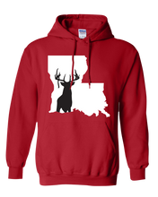 Load image into Gallery viewer, Pullover Hooded Sweatshirt Louisiana Red Whitetail Deer Vibrant Design High Quality Tight Knit Ring Spun Low Maintenance Cotton Printed With The Newest Available Color Transfer Technology