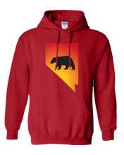 Load image into Gallery viewer, Pullover Hooded Sweatshirt Nevada Red Black Bear Vibrant Design High Quality Tight Knit Ring Spun Low Maintenance Cotton Printed With The Newest Available Color Transfer Technology