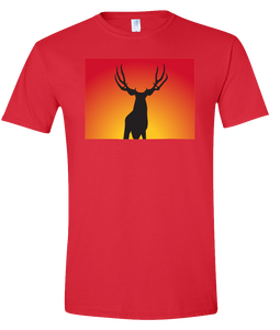 Short Sleeve T-Shirt Colorado Red Mule Deer Vibrant Design High Quality Tight Knit Ring Spun Low Maintenance Cotton Printed With The Newest Available Color Transfer Technology