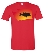 Load image into Gallery viewer, Short Sleeve T-Shirt Washington Red Large Mouth Bass Vibrant Design High Quality Tight Knit Ring Spun Low Maintenance Cotton Printed With The Newest Available Color Transfer Technology