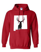 Load image into Gallery viewer, Pullover Hooded Sweatshirt New Mexico Red Mule Deer Vibrant Design High Quality Tight Knit Ring Spun Low Maintenance Cotton Printed With The Newest Available Color Transfer Technology