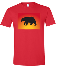 Load image into Gallery viewer, Short Sleeve T-Shirt Colorado Red Black Bear Vibrant Design High Quality Tight Knit Ring Spun Low Maintenance Cotton Printed With The Newest Available Color Transfer Technology
