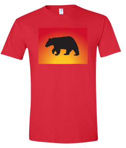Short Sleeve T-Shirt Colorado Red Black Bear Vibrant Design High Quality Tight Knit Ring Spun Low Maintenance Cotton Printed With The Newest Available Color Transfer Technology