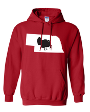 Load image into Gallery viewer, Pullover Hooded Sweatshirt Nebraska Red Turkey Vibrant Design High Quality Tight Knit Ring Spun Low Maintenance Cotton Printed With The Newest Available Color Transfer Technology