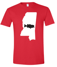 Load image into Gallery viewer, Short Sleeve T-Shirt Mississippi Red Large Mouth Bass Vibrant Design High Quality Tight Knit Ring Spun Low Maintenance Cotton Printed With The Newest Available Color Transfer Technology