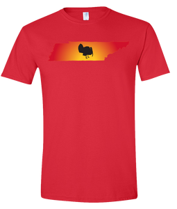 Short Sleeve T-Shirt Tennessee Red Turkey Vibrant Design High Quality Tight Knit Ring Spun Low Maintenance Cotton Printed With The Newest Available Color Transfer Technology