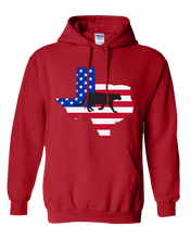 Load image into Gallery viewer, Pullover Hooded Sweatshirt Texas Red Mountain Lion Vibrant Design High Quality Tight Knit Ring Spun Low Maintenance Cotton Printed With The Newest Available Color Transfer Technology