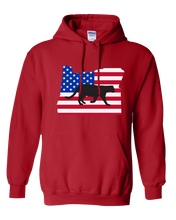 Load image into Gallery viewer, Pullover Hooded Sweatshirt Oregon Red Mountain Lion Vibrant Design High Quality Tight Knit Ring Spun Low Maintenance Cotton Printed With The Newest Available Color Transfer Technology
