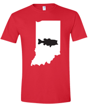 Load image into Gallery viewer, Short Sleeve T-Shirt Indiana Red Large Mouth Bass Vibrant Design High Quality Tight Knit Ring Spun Low Maintenance Cotton Printed With The Newest Available Color Transfer Technology
