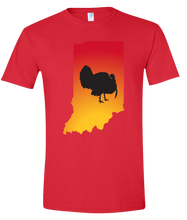 Load image into Gallery viewer, Short Sleeve T-Shirt Indiana Red Turkey Vibrant Design High Quality Tight Knit Ring Spun Low Maintenance Cotton Printed With The Newest Available Color Transfer Technology