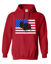 Load image into Gallery viewer, Pullover Hooded Sweatshirt Wyoming Red Turkey Vibrant Design High Quality Tight Knit Ring Spun Low Maintenance Cotton Printed With The Newest Available Color Transfer Technology