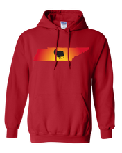 Load image into Gallery viewer, Pullover Hooded Sweatshirt Tennessee Red Turkey Vibrant Design High Quality Tight Knit Ring Spun Low Maintenance Cotton Printed With The Newest Available Color Transfer Technology