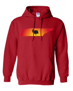 Pullover Hooded Sweatshirt Tennessee Red Turkey Vibrant Design High Quality Tight Knit Ring Spun Low Maintenance Cotton Printed With The Newest Available Color Transfer Technology