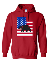 Load image into Gallery viewer, Pullover Hooded Sweatshirt Utah Red Black Bear Vibrant Design High Quality Tight Knit Ring Spun Low Maintenance Cotton Printed With The Newest Available Color Transfer Technology