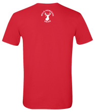 Load image into Gallery viewer, Short Sleeve T-Shirt New York Red Whitetail Deer Vibrant Design High Quality Tight Knit Ring Spun Low Maintenance Cotton Printed With The Newest Available Color Transfer Technology