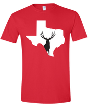 Load image into Gallery viewer, Short Sleeve T-Shirt Texas Red Mule Deer Vibrant Design High Quality Tight Knit Ring Spun Low Maintenance Cotton Printed With The Newest Available Color Transfer Technology