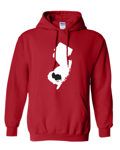 Pullover Hooded Sweatshirt New Jersey Red Turkey Vibrant Design High Quality Tight Knit Ring Spun Low Maintenance Cotton Printed With The Newest Available Color Transfer Technology
