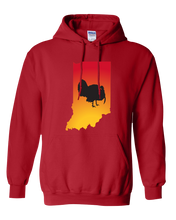 Load image into Gallery viewer, Pullover Hooded Sweatshirt Indiana Red Turkey Vibrant Design High Quality Tight Knit Ring Spun Low Maintenance Cotton Printed With The Newest Available Color Transfer Technology