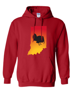 Pullover Hooded Sweatshirt Indiana Red Turkey Vibrant Design High Quality Tight Knit Ring Spun Low Maintenance Cotton Printed With The Newest Available Color Transfer Technology
